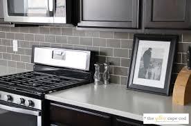 Grey Kitchen Backsplash Enchanting Grouting Kitchen Backsplash And White Subway Tile With