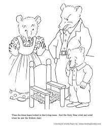 goldilocks and the three bears coloring pages goldilocks broke