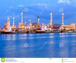 Beautiful Lighting Beautiful Lighting Of Oil Refinery Industry Plant Beside Blue