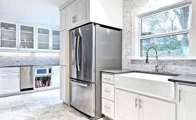 backsplash for a white kitchen white kitchen with grey backsplash homehub co