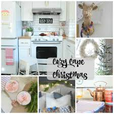 christmas home decor ideas in a cozy cape cod style home