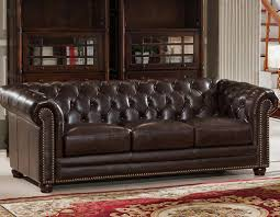 Chesterfields Sofa by Amax Kensington Top Grain Leather Chesterfield Sofa U0026 Reviews