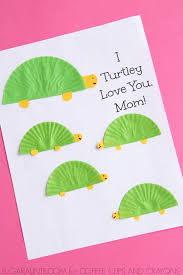 turtle themed mother u0027s day card coffee cups and crayons