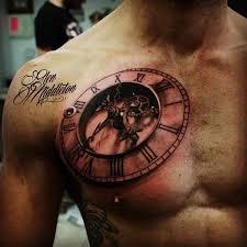 tattoo 3d design chest 3d tattoo clock with font http tattootodesign com 3d tattoo