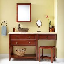 Solid Wood Bathroom Vanities Furniture Vintage Brown Varnished Solid Wood Bathroom Vanities