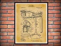 patent 1919 anesthetic machine art print poster medical