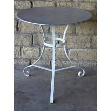 Zinc Top Bar Table Round Zinc Top Table Andy Thornton
