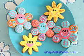 flip flop cookies u0026 cheerful flowers acup4mycake