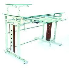 Glass Metal Computer Desk Trendy Metal Computer Desk Ideas Features Glass Metal Computer