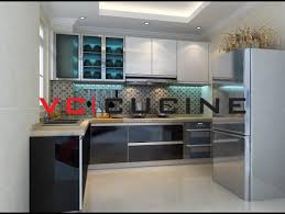 Black L Shape Melamine Kitchen Cabinet VCKMVC Cucine China - Kitchen cabinets melamine