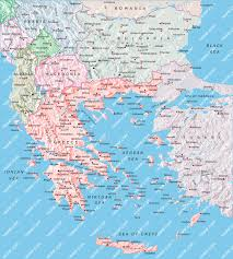 Map Greece by Greece Albania Bulgaria Map Illustrator Mountain High Maps Plus