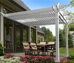 12 X 16 Pergola by New England Arbors Elysium Attached Louvered 8 5 Ft H X 12 Ft W