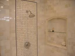 Tiled Bathroom Showers Bed Bath Marble Tile Bathroom Shower Stall Niche Master