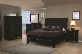 black sleigh bedroom set coaster black sandy beach collection bedroom set with storage
