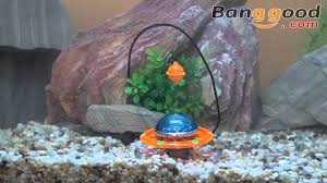 u f o action air aquarium decoration ornament 0 84 youtube