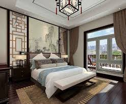 contemporary minimalist style bedroom and bed interior design