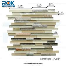linear dusk glass u0026 stone mosaic backsplash tile 11 3 4