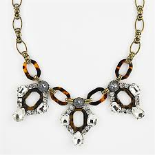 crystal link necklace images Crystal tortoise necklace chunky link statement necklace bib jpg