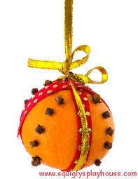 craft orange pomander