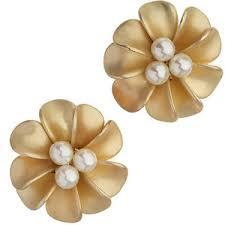 flower stud earrings gold flower stud earrings dorothy perkins polyvore