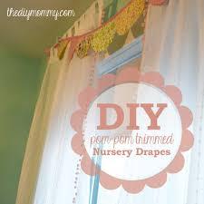 Nursery Curtains Make Boutique Nursery Drapes With Pre Made Curtains And Pom Pom