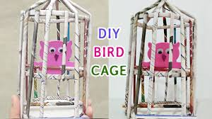 how to make bird cage diy newspaper crafts ideas youtube