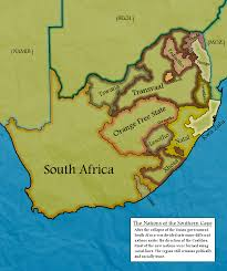 Map South Africa Balkanised South Africa Map Alternative History South Africa
