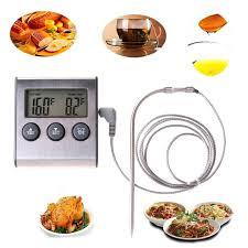 thermometre sonde cuisine numérique sonde du thermomètre alimentaire minuterie compteur