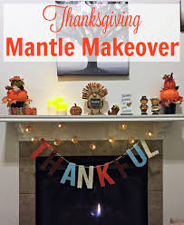 diy thanksgiving mantle on a budget we got the funk