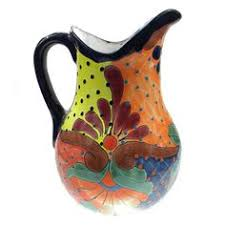 Decorative Pitchers Mexican Pottery Pitcher Jug Bandera Rustic Red Ware Creamer