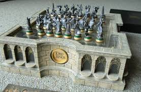 the grandmaster chess set and board combination green gilded