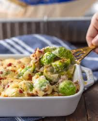 brussels sprout gratin with bacon the cookie rookie