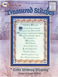 wedding blessings celtic wedding blessing cross stitch pattern for you at gryphon s moon
