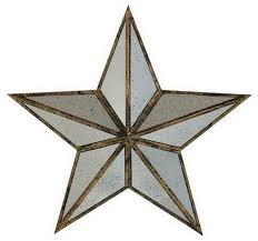Wall Decor Mirror Home Accents Large Silver Metal Mirror Star Wall Art Home Accent Decor