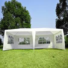 Patio Tent Gazebo by Aosom Outsunny White 10 U0027 X 20 U0027 Gazebo Canopy Tent Aosom Com