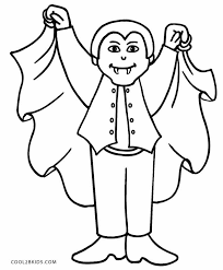 printable vampire coloring pages kids cool2bkids holiday