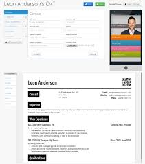 Video Resume Maker About Our Service Responsive Cv With Mobile Resume U0026 Qr Code