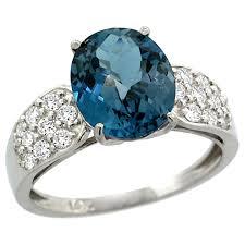 blue topaz engagement rings 14k white gold london blue topaz ring oval
