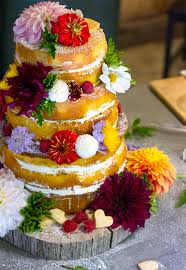 Wedding Sponge Cake With Passionfruit Curd And Fresh Cream