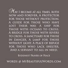 white light protection prayer my beautiful words a buddhist prayer of peace