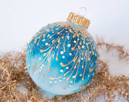 turquoise ornaments etsy