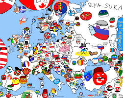 Map Of Europe Countries Polandball Map Of Europe Made By Many Different People From Many