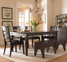 Dining Room Bench With Back by Dining Room Alluring Wooden 4 Piece Wooden Ladder Back Chair And
