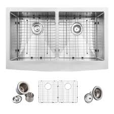 Home Depot Farmers Sink by Glacier Bay Farmhouse Apron Front Stainless Steel 33 In Double