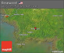 free satellite map of rosewood