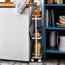kitchen storage cabinet cart fit anywhere slim storage cart