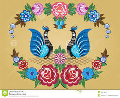 folklore pattern gorodets painting russia stock photography
