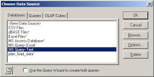 use ms query to treat excel as a relational data source