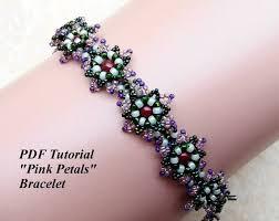 flower beaded bracelet images Seed bead tutorial beading jewelry beaded flower bracelet etsy jpg