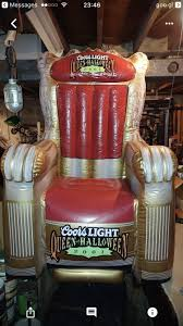 rare coors light queen of halloween 2001 inflatable throne